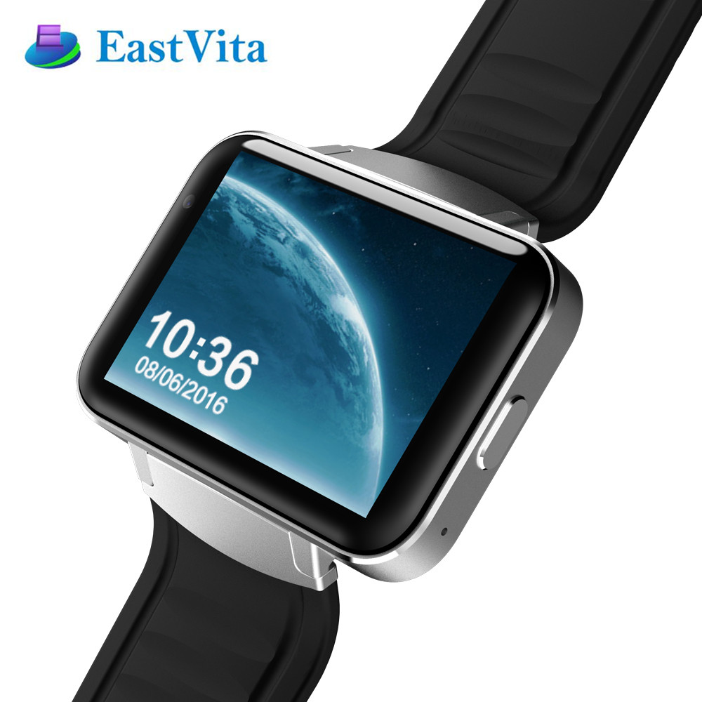 Eastvita dm98 smart watch 2.2 inç hd ekran 512 mb ram 4 gb rom çift çekirdekli Android 4.4 OS 3G Kamera WCDMA GPS WIFI Smartwatch SB03